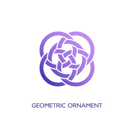 Geometric emblem design template with smooth gradient fill on a white background. Vector illustration. Ilustracja