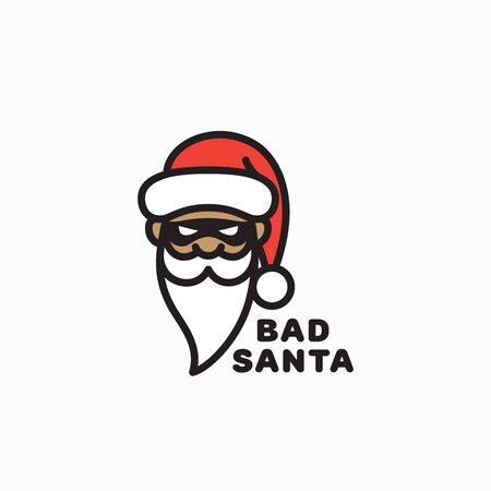 Bad Santa template design. Vector illustration. 向量圖像