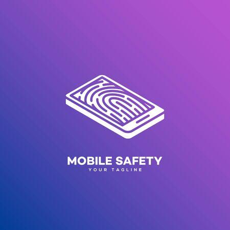 Mobile safety design template. Vector illustration.