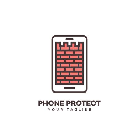 Phone protect design template. Vector illustration. 向量圖像
