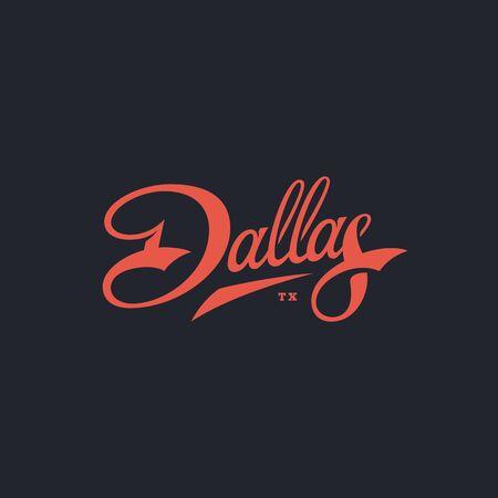 Dallas word lettering design. Vector illustration. Фото со стока - 134792001