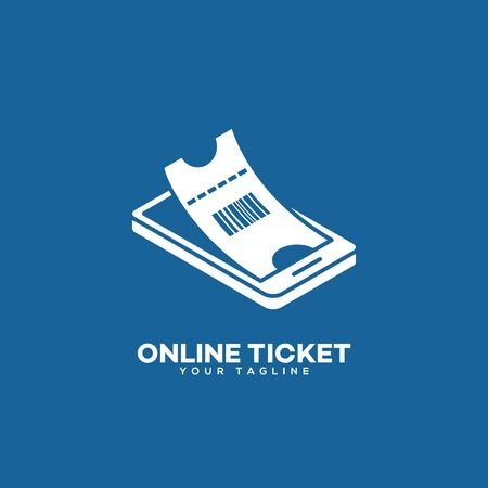 Online ticket  design template. Vector illustration.