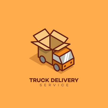 Isometric delivery  design template. Vector illustration.