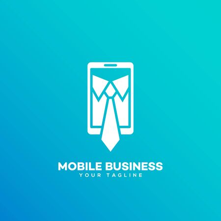 Mobile business logo design template. Vector illustration.