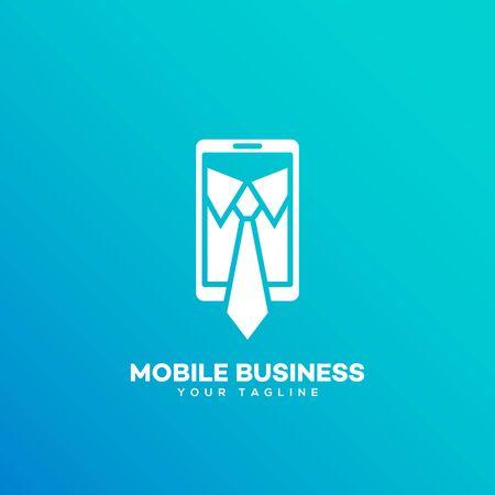 Mobile business logo design template. Vector illustration. Фото со стока - 136626290