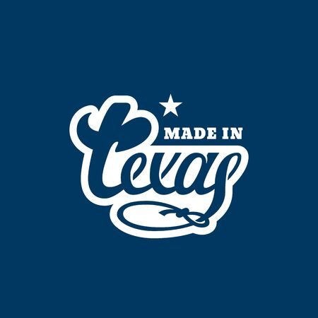 Made in Texas lettering. Vector illustration.