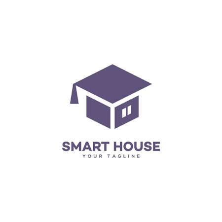 Smart house design template. Vector illustration.
