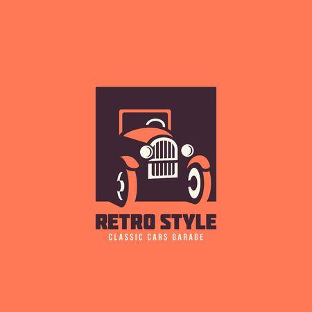 Classic car garage logo template design. Vector illustration. Illustration