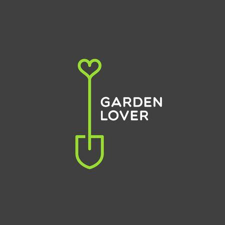 Garden lover design template. Vector illustration.