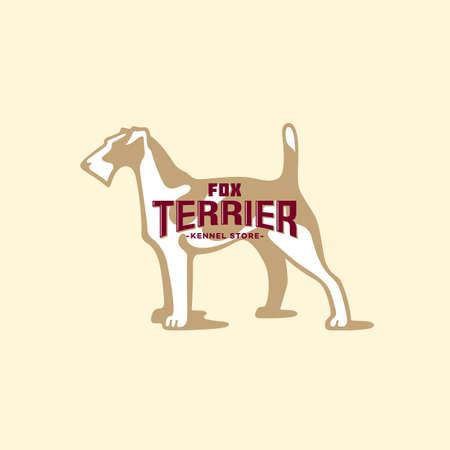 Fox terrier  design template. Vector illustration.