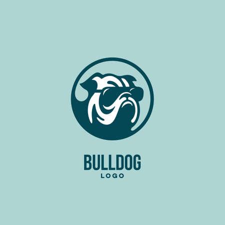 Bulldog head  design template. Vector illustration. 向量圖像