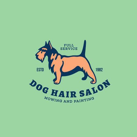 Scottish terrier  design template. Vector illustration. 向量圖像