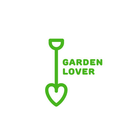 Garden lover  design template in linear style. Vector illustration.