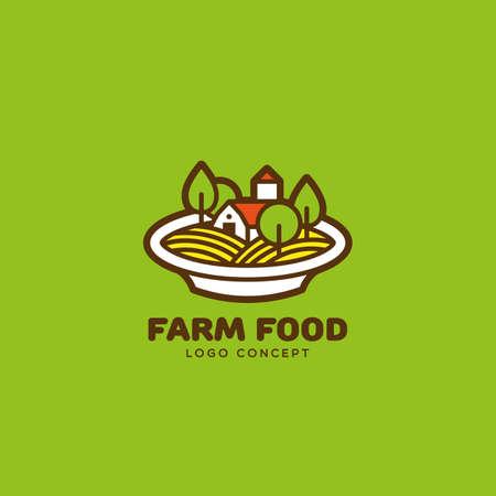 Farm food  design template. Vector illustration.