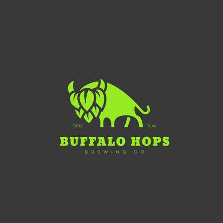 Buffalo hops  design template. Vector illustration.