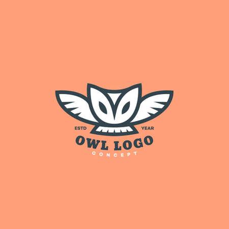 Barn owl  design template. Vector illustration.