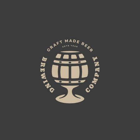 Barrel glass beer design template. Vector illustration.