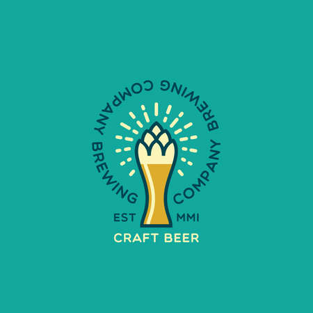 Craft beer design template. Vector illustration.