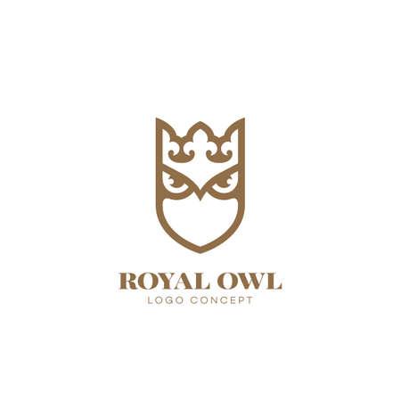 Royal owl  design template. Vector illustration. Illustration