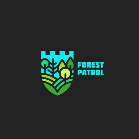 Forest patrol  design template. Vector illustration.