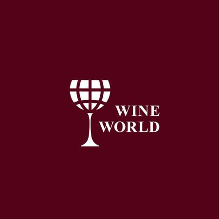 Wine world   design template. Vector illustration.