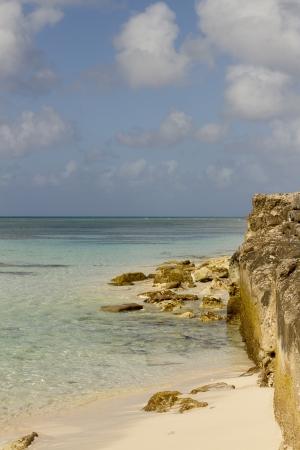turks: Una vista del Mar Caribe desde Islas Turcas y Caicos. Foto de archivo