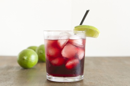 A cocktail made with vodka and pomegranate juice.