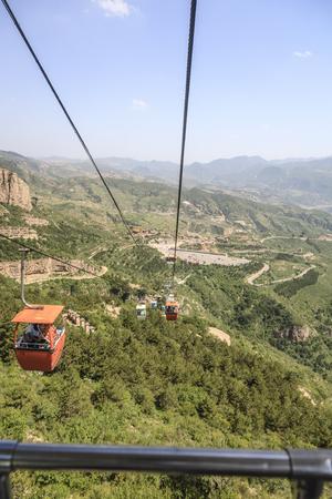 Mount Heng cable car 版權商用圖片