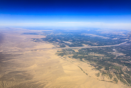 Aerial  view of Xinjiang Stock Photo
