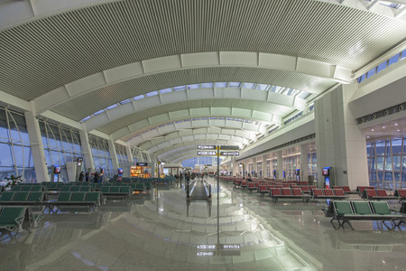 Wuhan Tianhe airport interior view