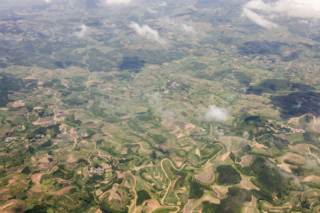 Aerial view of Guangxi land form Stock Photo