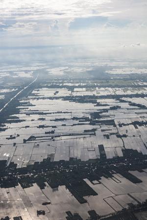 Luchtfoto van Vietnam Stockfoto - 87630103