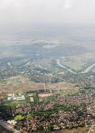 Aerial landscape view of Vietnam land form