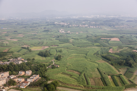 Aerial landscape view of Guangxi land form