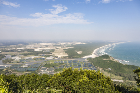 Hainan Tonggu Mountain with seacoast view