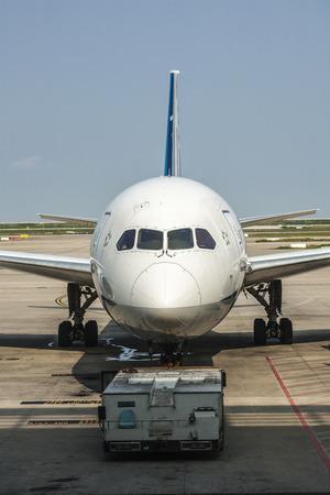 Boeing 787  at Shanghai airport