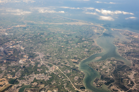 Aerial scenery view of Zhanjiang
