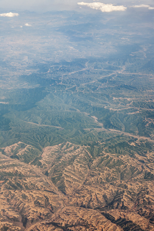 Aerial scenery view of Loess Plateau