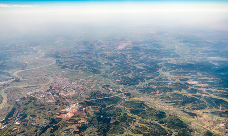 Aerial view of an area