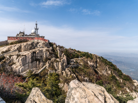 Peak of the Mount Tai in Taishan, Shandong, China