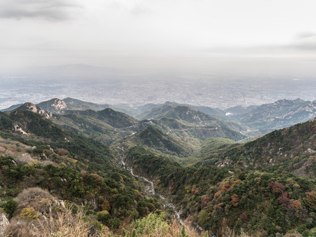 Hiking trails on the Mount Tai, Taishan, Shandong