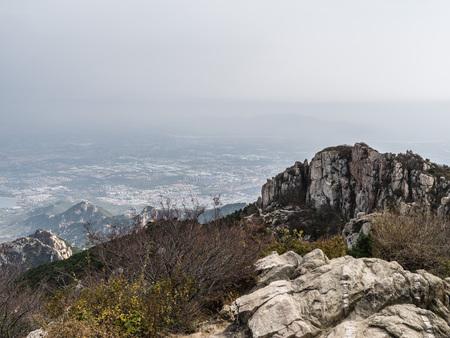 View of the Mount Tai in Taishan, Shandong, China