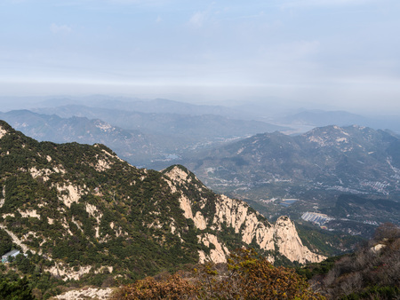 Scenic view at the peak of the Mount Tai, Taishan, Shandong 版權商用圖片