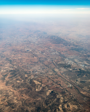 Aerial view of a farmland Stock Photo