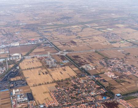 Luftaufnahme eines Vorortes