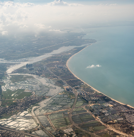 Aerial photography of Haikou 스톡 콘텐츠 - 110171580