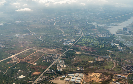 Aerial photography of Haikou 스톡 콘텐츠 - 110171581
