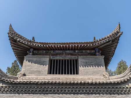 View of a chinese building clay roof