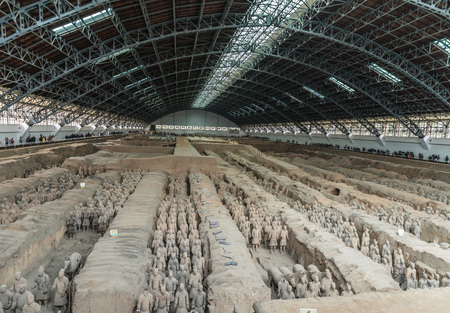The Terracotta Army Museum in Xian, Shaanxi, China