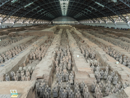 The Terracotta Army Museum in Xi'an, Shaanxi, China